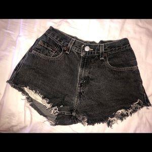 Grey Levi's denim shorts